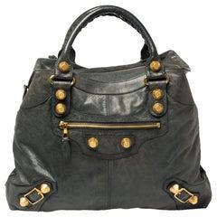 Balenciaga Anthracite Leather GGH Brief Bag