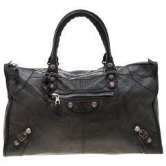 Balenciaga Antracite Lambskin Leather Giant 21 Work Tote