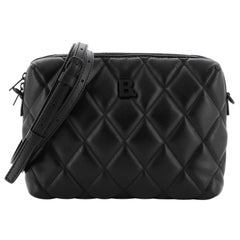 Balenciaga B. Camera Bag Quilted Leather