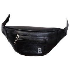 Balenciaga B Logo Plaque Bag Black