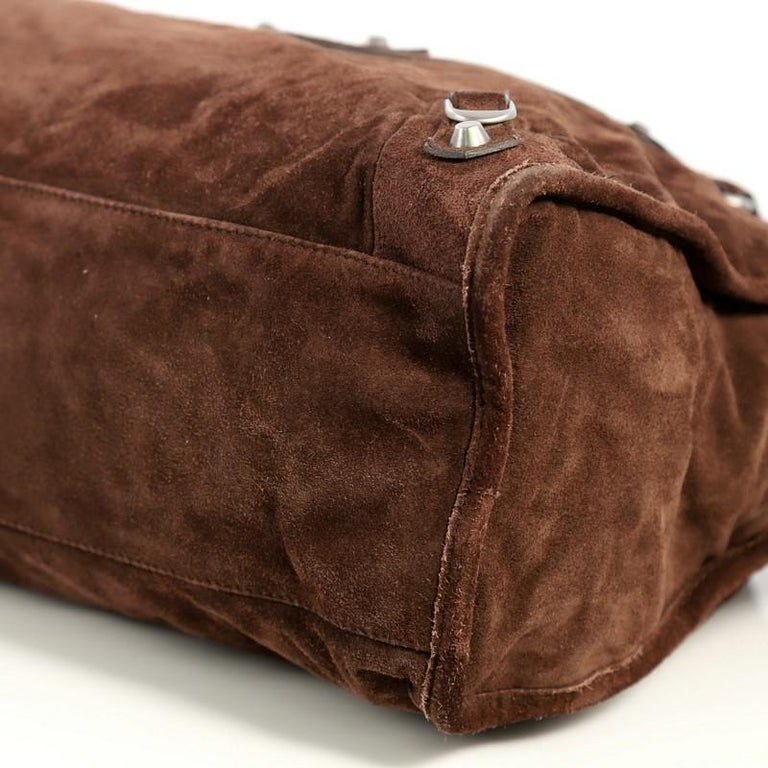 Balenciaga Baby Daim City Classic Studs Bag Suede Medium 2