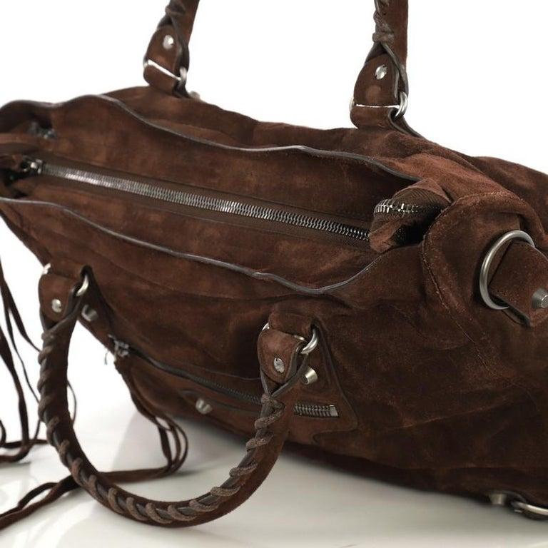 Balenciaga Baby Daim City Classic Studs Bag Suede Medium 3