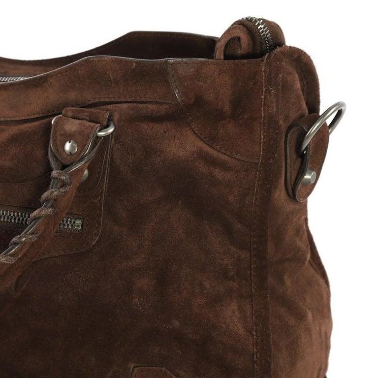Balenciaga Baby Daim City Classic Studs Bag Suede Medium 4