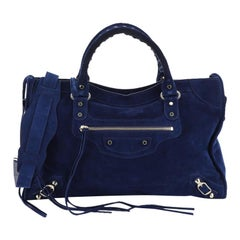 Balenciaga Baby Daim City Classic Studs Bag Suede Medium