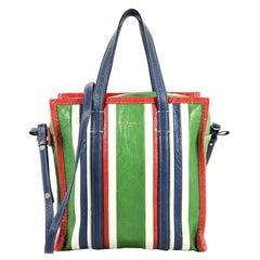 Balenciaga Bazar Convertible Tote Striped Leather Small