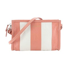 Balenciaga Bazar Crossbody Bag Striped Leather