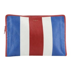Balenciaga Bazar Pouch Striped Leather