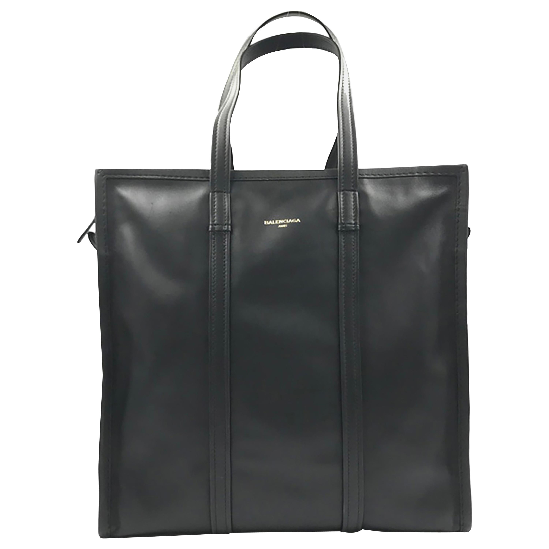 Balenciaga Bazar Shopper Medium Size Black Leather Ladies Tote Bag 443097