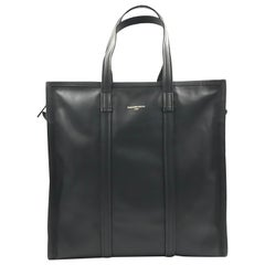 Balenciaga Bazar Shopper Medium Size Black Leather Ladies Tote Bag 443097