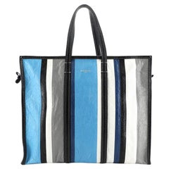 Balenciaga  Bazar Tote Striped Leather Large
