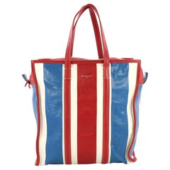 Balenciaga Bazar Tote Striped Leather Medium
