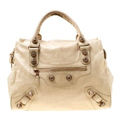 Balenciaga Beige Leather Giant 21 Midday Bag