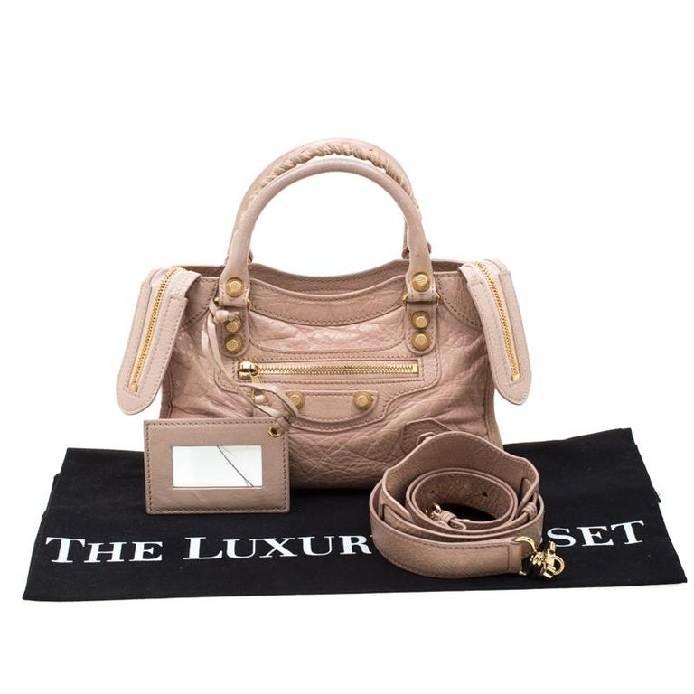 acheter populaire e4e75 a6e4d Balenciaga Beige Leather Mini Classic Edge City Bag