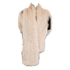 BALENCIAGA beige nude CROPPED FUR BOLERO Jacket 38 S