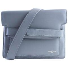Balenciaga Belted 2balr0618 Grey Leather Shoulder Bag