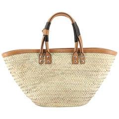 Balenciaga Bistrot Panier Bag Straw Small