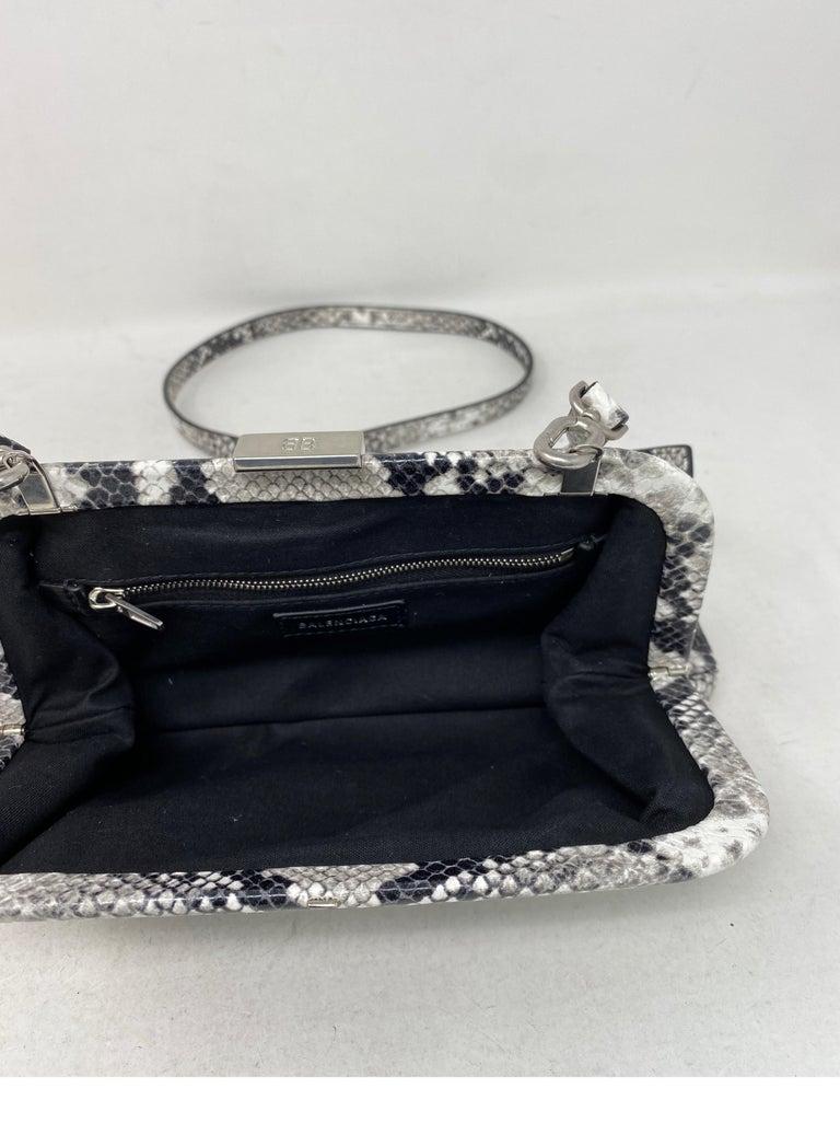Balenciaga Black and White Crossbody Bag  For Sale 7