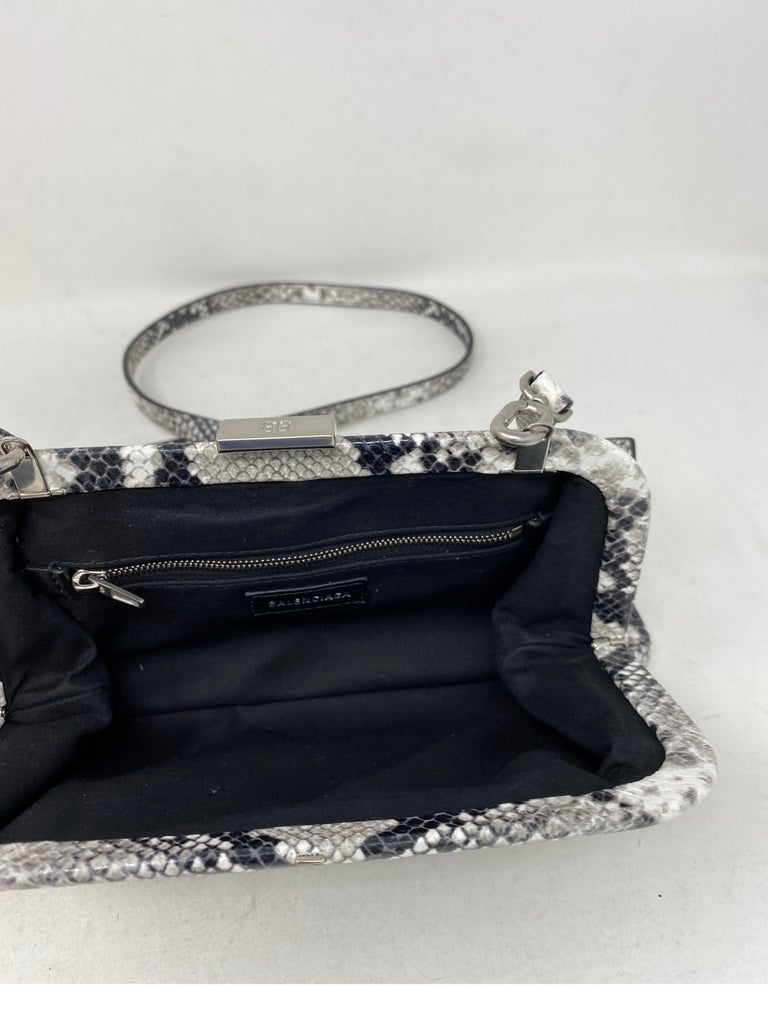 Balenciaga Black and White Crossbody Bag  For Sale 8