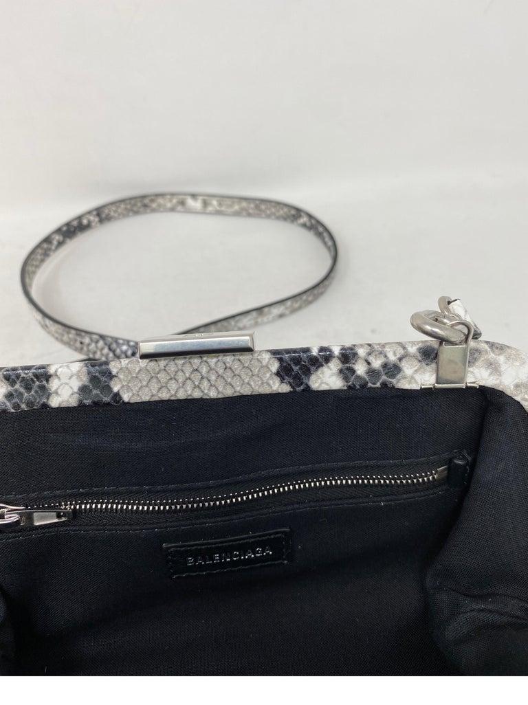 Balenciaga Black and White Crossbody Bag  For Sale 9