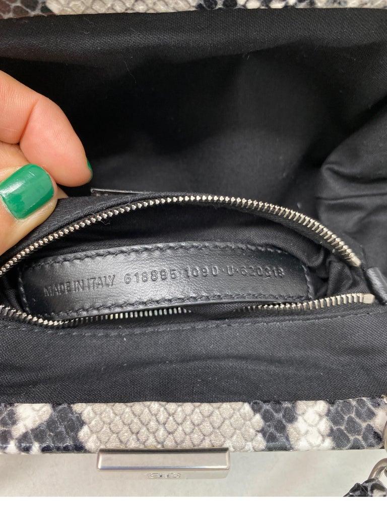 Balenciaga Black and White Crossbody Bag  For Sale 10