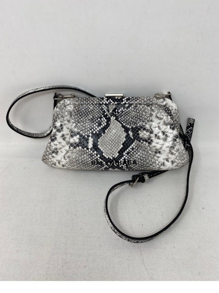 Balenciaga Black and White Crossbody Bag  For Sale 14