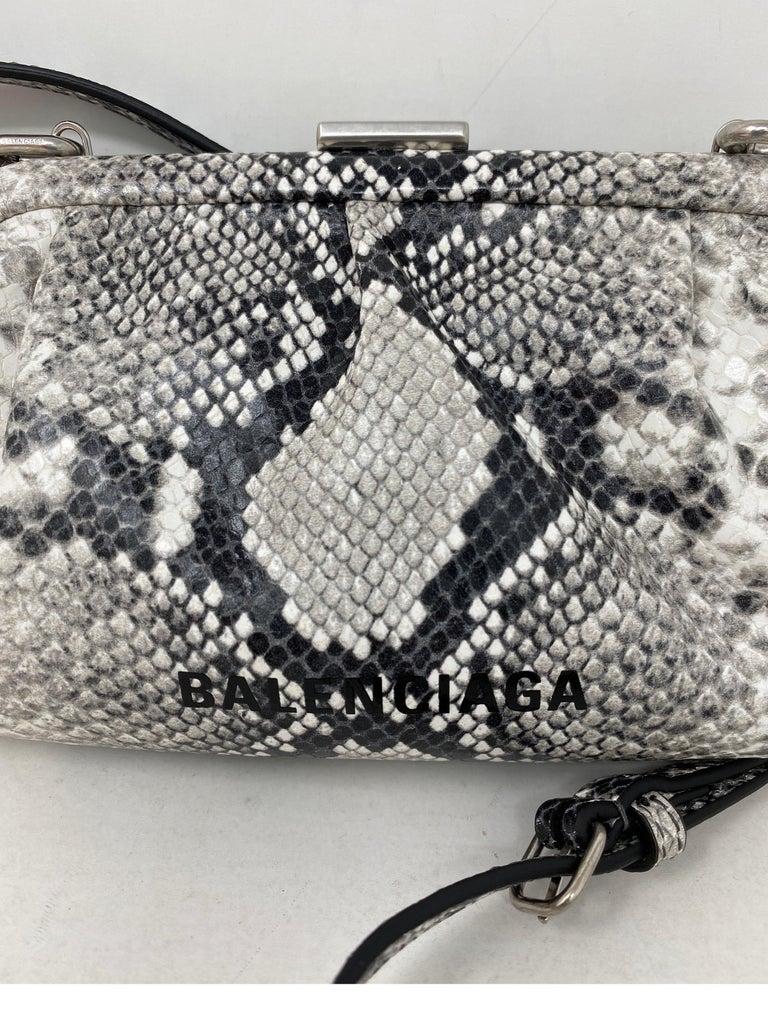 Balenciaga Black and White Crossbody Bag  For Sale 15