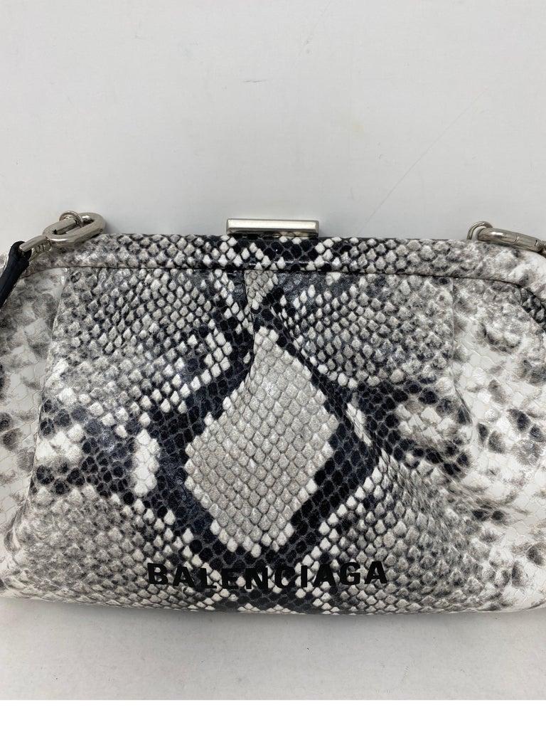 Gray Balenciaga Black and White Crossbody Bag  For Sale