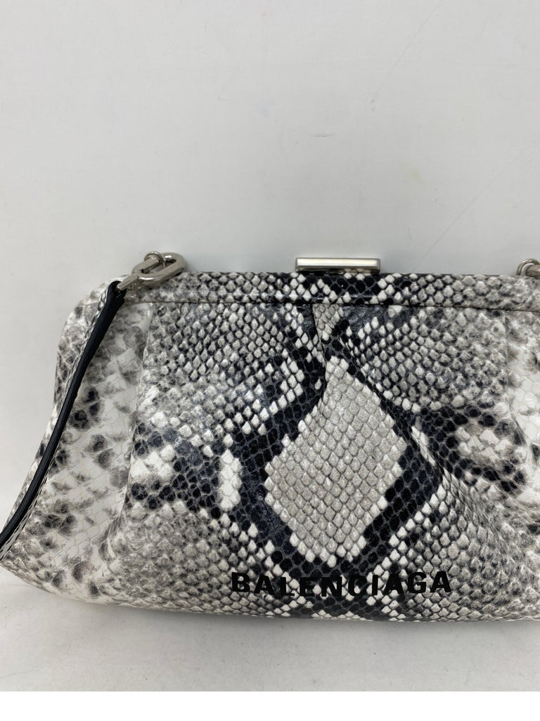 Balenciaga Black and White Crossbody Bag  In New Condition For Sale In Athens, GA