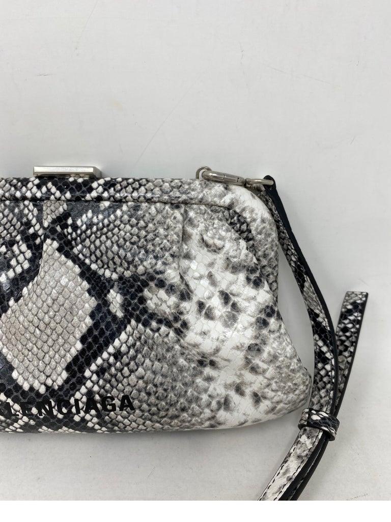 Women's or Men's Balenciaga Black and White Crossbody Bag  For Sale