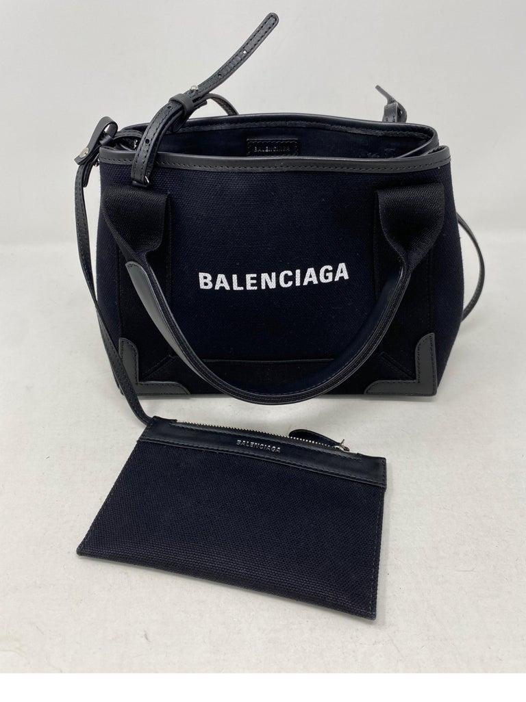 Balenciaga Black Canvas Cotton Bag  For Sale 6