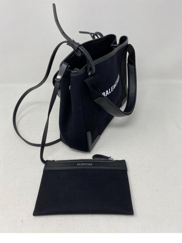 Balenciaga Black Canvas Cotton Bag  For Sale 7