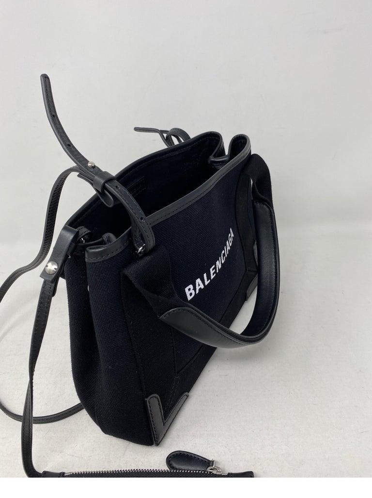 Balenciaga Black Canvas Cotton Bag  For Sale 8