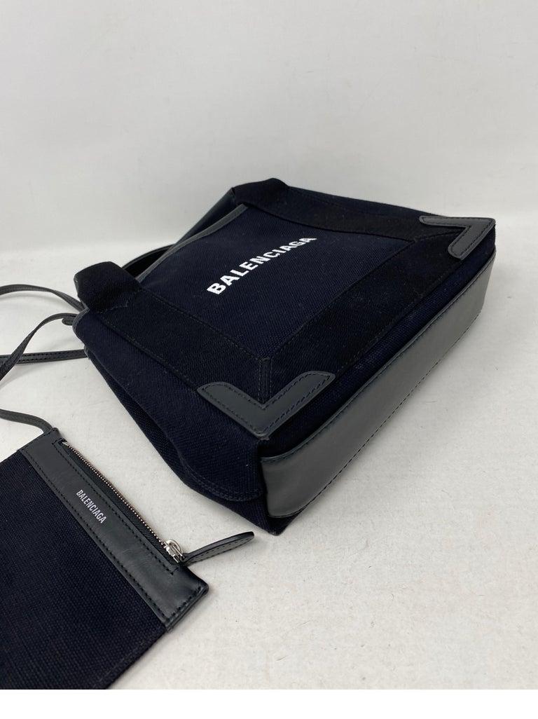 Balenciaga Black Canvas Cotton Bag  For Sale 9