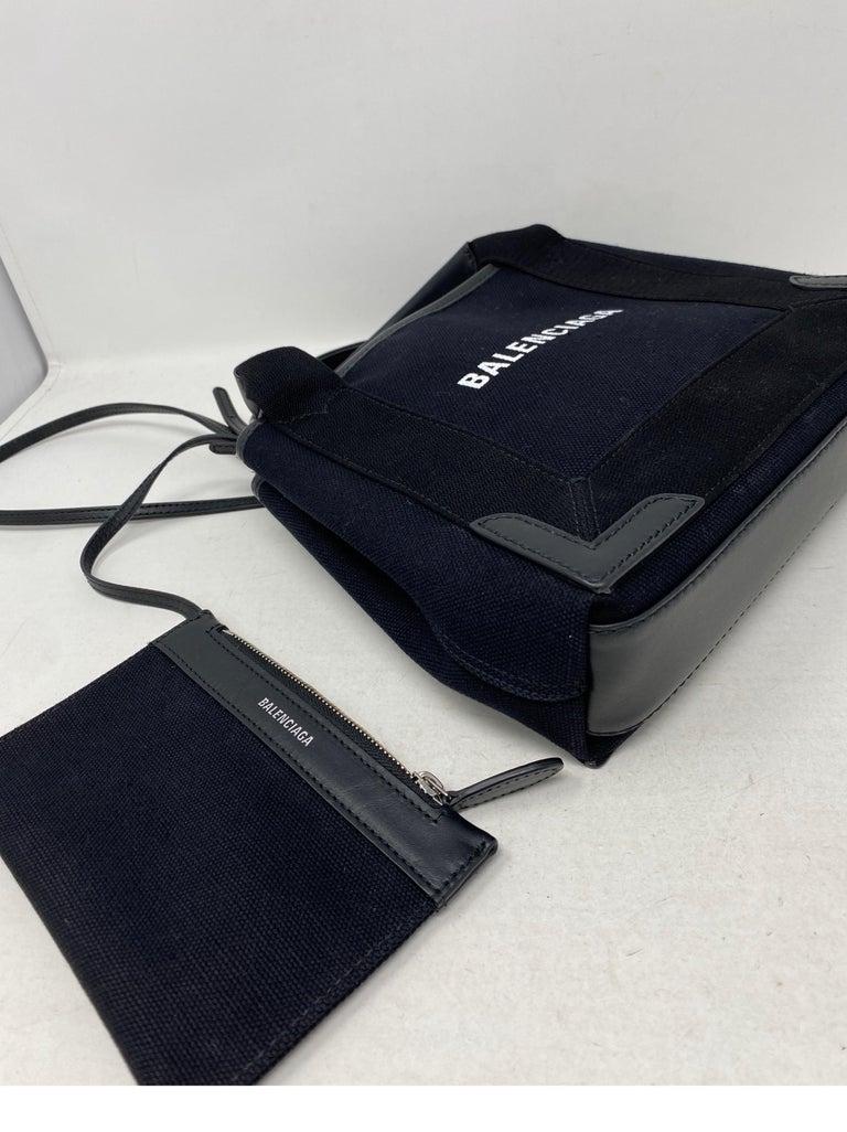 Balenciaga Black Canvas Cotton Bag  For Sale 10