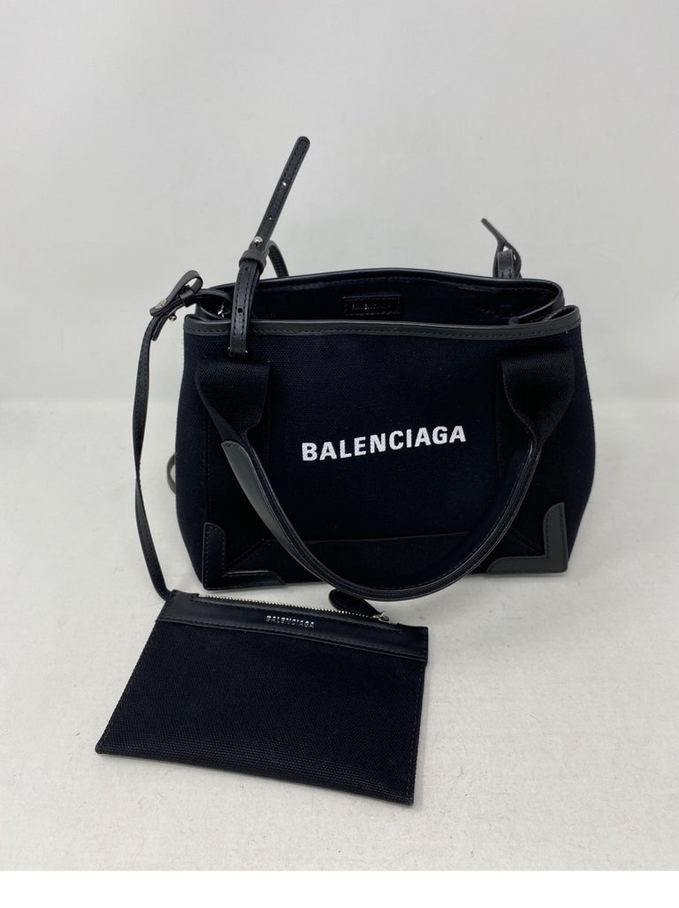 Balenciaga Black Canvas Cotton Bag  For Sale 11