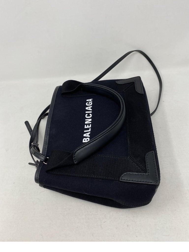 Balenciaga Black Canvas Cotton Bag  In Excellent Condition For Sale In Athens, GA