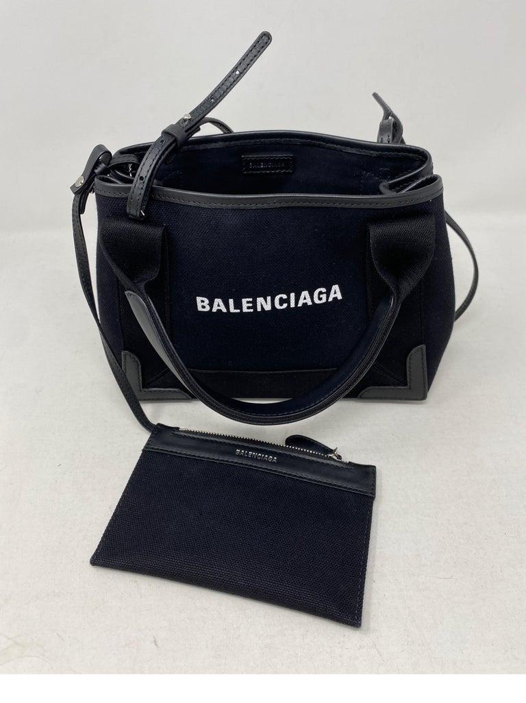 Balenciaga Black Canvas Cotton Bag  For Sale 5