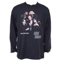 Balenciaga Black Cotton Speed Hunters Long Sleeve T-Shirt M