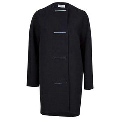 Balenciaga Black Embellished Cocoon Coat S