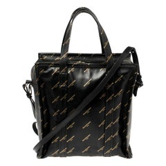 Balenciaga Black Leather Bazar Shopper S Tote