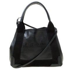 Balenciaga Black Leather Cabas Xs Crossbody Bag