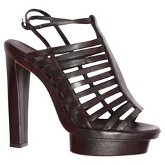 Balenciaga Black, Leather, Cage Platforms Size 36