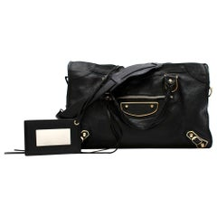 Balenciaga Black Leather Classic Edge City Bag