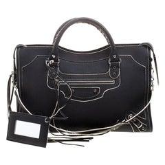 Balenciaga Black Leather Classic Highlight City Tote