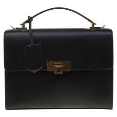Balenciaga Black Leather Le Dix Shoulder Bag