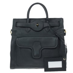 Balenciaga Black Leather Lune Tote