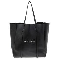 Balenciaga Black Leather Medium Everyday Tote