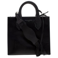 Balenciaga Black Leather Mini All Afternoon Tote