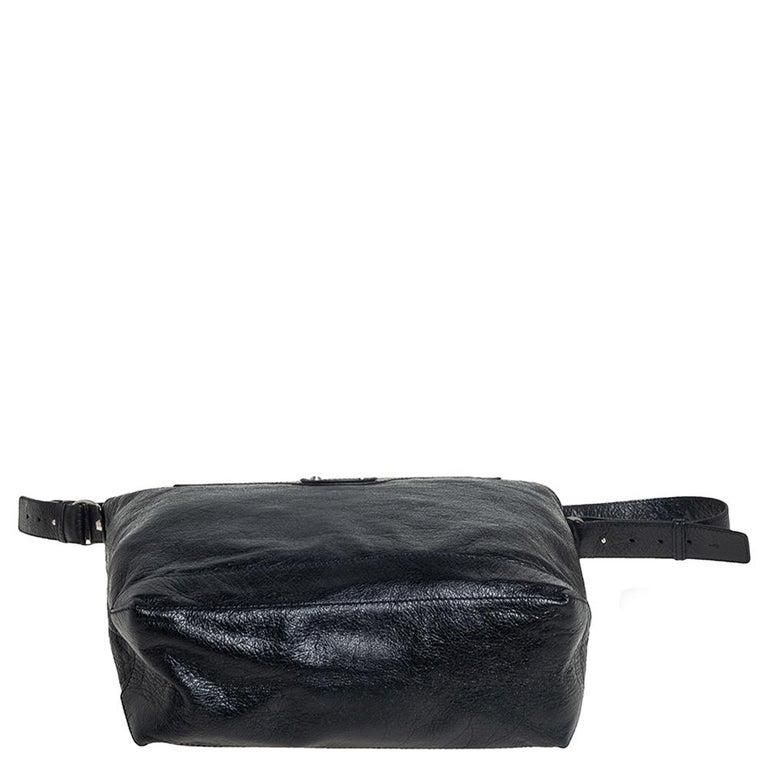 Balenciaga Black Leather RH Day Messenger Bag For Sale 1