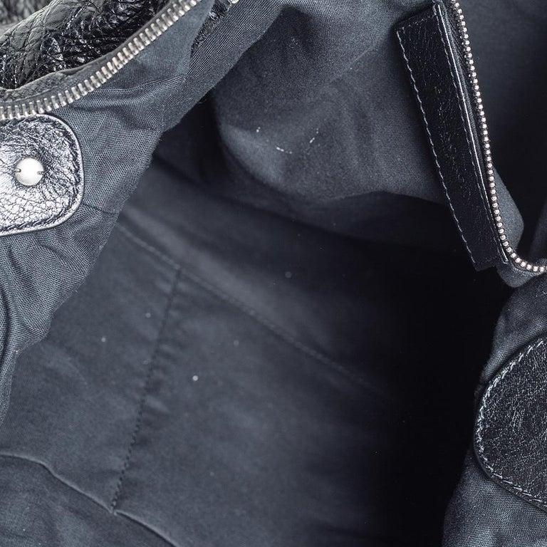 Balenciaga Black Leather RH Day Messenger Bag For Sale 5